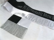 Black/White Bi-Sash