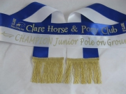 Royal Blue/White Bi-Sash