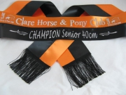 Orange/Black Bi-Sash