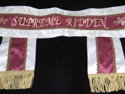 Cream/Burgundy/Cream Sash