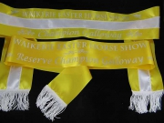 Gold & White Sash Set