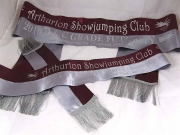 Burgundy/Pewter Set of Sashes