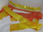Gold/Champagne/Orange Sash Set