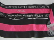 Black/Fuchsia/Black Shoulder Sash