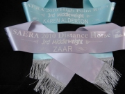 Aqua & Silver Single Sashes