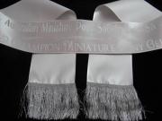 Deluxe Silver Sash