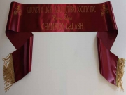 Burgundy Single Sash
