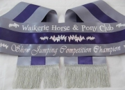 Grey/Purple/Grey Tri-Sash