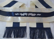 Cream/ Navy Blue/Cream Tri-Sash