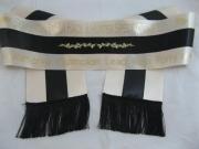 Ivory/Black/Ivory Equestrian Tri-Sash