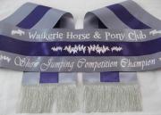 Grey/Purple/Grey Tri-Sash