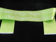 Kiwi Sash trimmed with Silver Braid