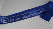 Calisthenics Club Award Shoulder Sash