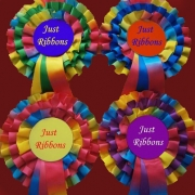3-Tier Rainbow Rosettes