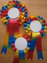 1; 2 & 3-Tier Rainbow Rosettes