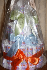 Baby Shower Nappy Cake Gift Wrapped