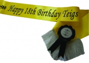 Personalised Special Occasion Sash & Rosette